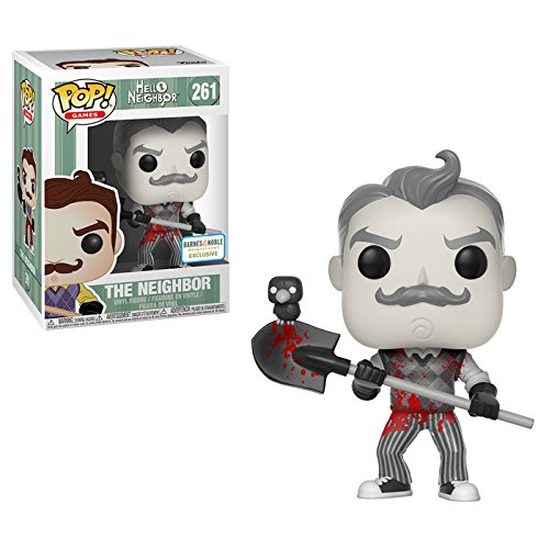 Funko Pop! - Figur- Black & White Bloody - Hello Neighbor (Schaufel)