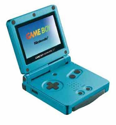 Game Boy Advance SP - Konsole in Surverblau, teurer Game Boy Exot