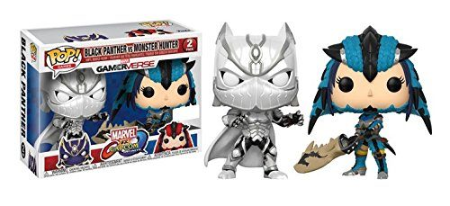 Marvel vs. Capcom Infinite POP! Games Vinyl Figure 2-Pack Black Panther vs. Monster Hunter