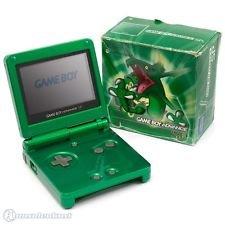 Nintendo Game Boy Advance SP (Rayquaza Edition) in grün, sehr wertvoll und Sammlerstück Game Boy