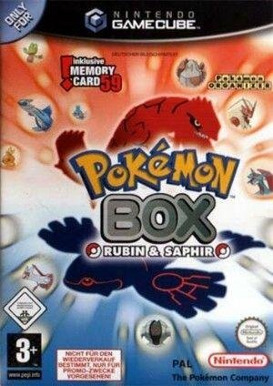 Pokémon Box Ruby & Sapphire, rares Gamecube Videospiel