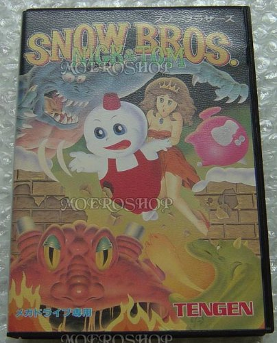 SNOW BROS. – Nick & Tom, seltenes Mega Drive Spiel aus Japan
