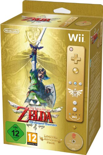 The Legend of Zelda: Skyward Sword – Limited Edition, seltener goldener Controller