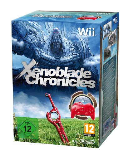 Xenoblade Chronicles – Limited Edition inkl. Classic Controller Pro Red, sehr wertvoll für den Nintendo Wii