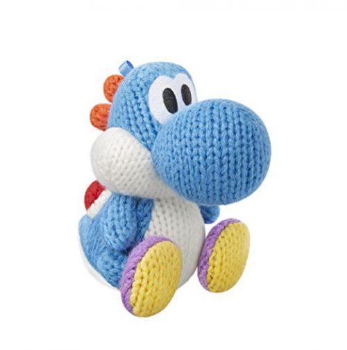 Nintendo amiibo Woll-Yoshi hellblau Woolly World