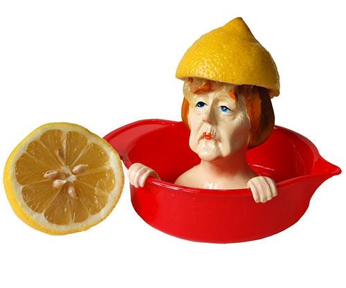 Angela Merkel Zitronenpresse / Citruspresse / Saftpresse