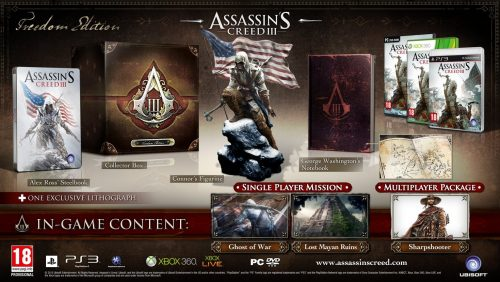 Assassin's Creed 3 - Freedom Edition, sehr seltene Edition