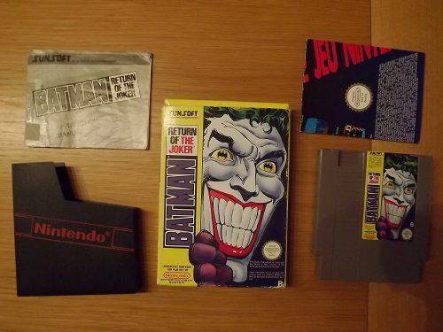 Batman Return of the Joker, Sammlerstück für NES