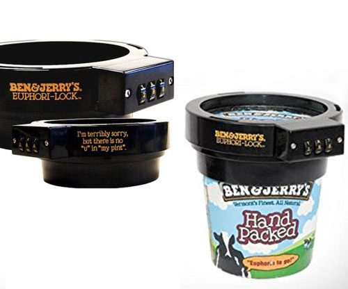 Ben & Jerry Eiscreme-Becher-Schutz
