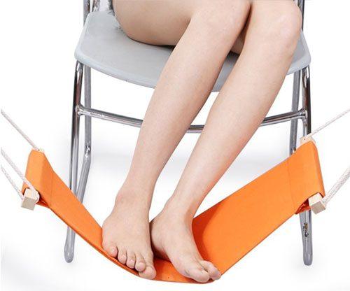 Fußablage, verstellbare Hängematte für Füße unter dem Schreibtisch