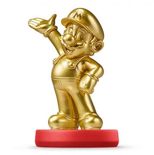 goldene wertvolle Nintendo amiibo Edition vom Helden Mario als Figur