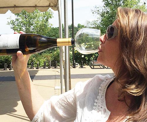 Weinglas an Weinflasche befestigen / Weinflaschenglas original Guzzle Buddy