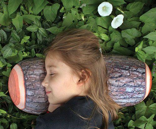 Holzkissen / Nachahmung / Schlafen im Wald mit Eiche