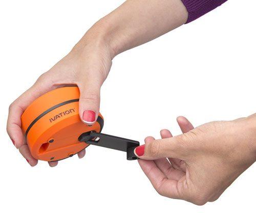 Led-Laterne mit Handkurbel Taschenlampe und USB-Port