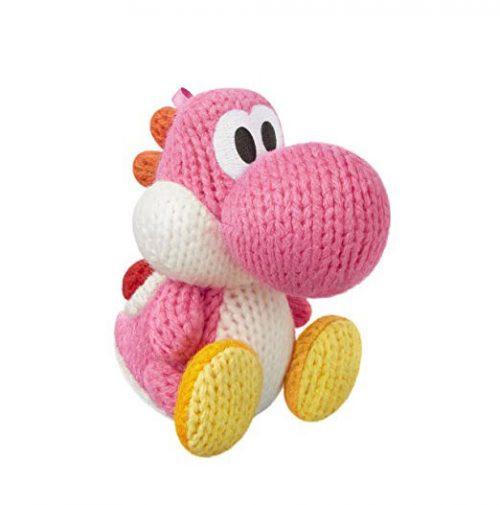Nintendo amiibo Woll-Yoshi pinke Farbe Woolly World Plüschtier