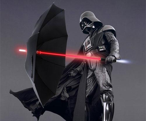 LED-Leuchtstab im Regenschirm / Lichtschwert - Star Wars