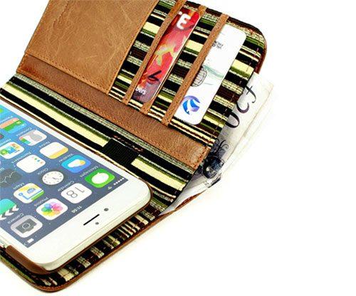 Smartphone-Portemonnaie Apple iPhone 7 mit magnetischer Halterung