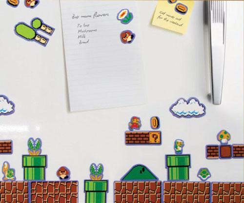 Super Mario Bros. Kühlschrank Magnetenset 80 Symbole und Zeichen