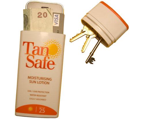 Sonnencreme- Versteck / TanSafe, Versteck für Wertsachen