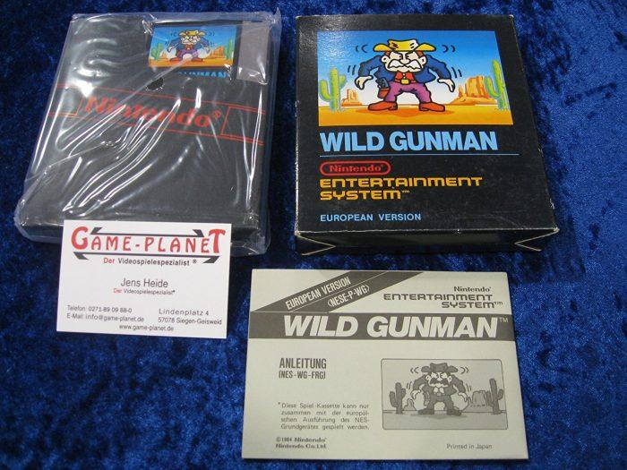 Wild Gunman Lightgun Nintendo, selten NES